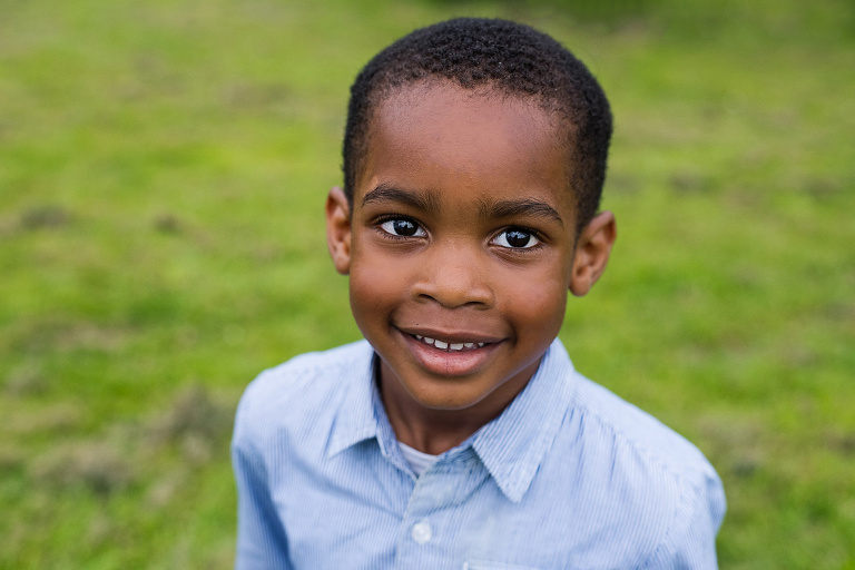 Portrait of young boy captured by London child photographer Kofo Baptist